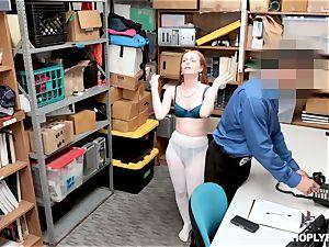 Ella Hughes pulverized balls deep by naughty mall cop