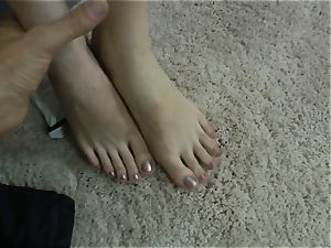 Demitris gets her tickly feet deep-throated off