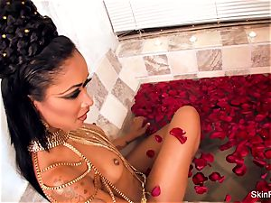 seductive vampy flesh gets a wicked giant meatpipe in the tub