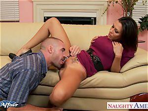 dark-haired Rachel Starr boink her lucky neighbor