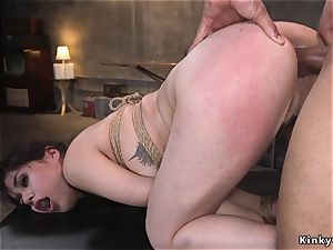 large ebony cock master nails dark-haired marionette