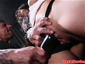 Brandy Aniston smashed brutally by fierce dom