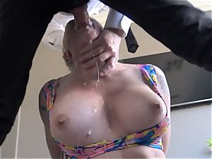 buxom Leya Falcon toughly bum pounded by Pascal white