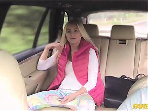 faux cab horny nubile has outdoor intercourse