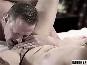 unspoiled TABOO 18yo Ashley Sins Against mother to satiate daddy