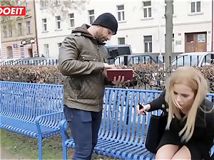 LETSDOEIT - hot blond Tricked Into hook-up By Czech dude