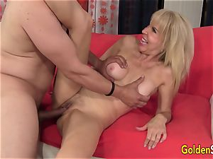 promiscuous granny Erica Lauren Gets Her Mature cooter Eaten and boinked