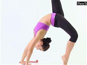 Tonya the super hot gymnast makes awesome poses