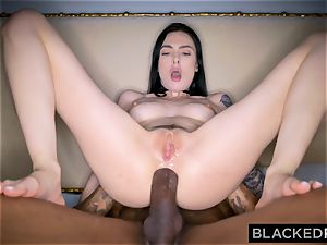 BLACKEDRAW Canadian girlfriend takes fat bbc in her booty