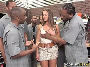 Amirah Adara deep throats An whole crew Of ebony boys