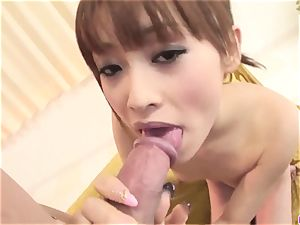 Miina Yoshihara endures unending inches of stiffy in her w