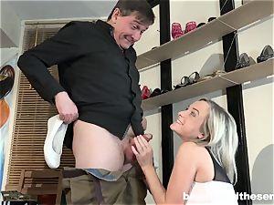 Lusty nubile Vinna Reed take an aged prick