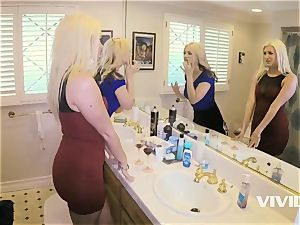 super-steamy Swingers Sarah Vandella and Laela Pryce With BBCs