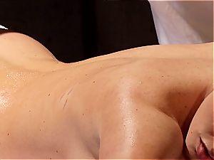 horny masseuse makes Krissy Lynn shake after voluptuous enjoy making