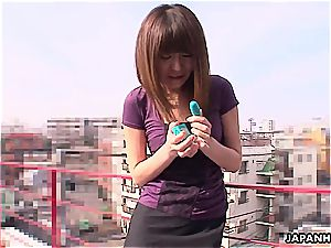 japanese ultra-cutie pie getting plaything screwed by herself