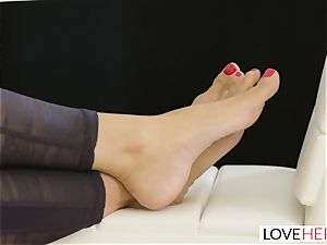 LoveHerFeet - Stepson smashes His Stepmom On The couch