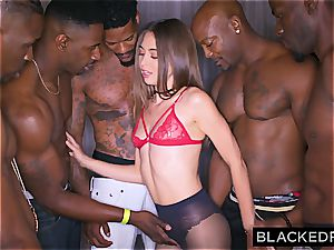 Riley Reid gets all her holes inserted by BBCs in a gang-bang gig