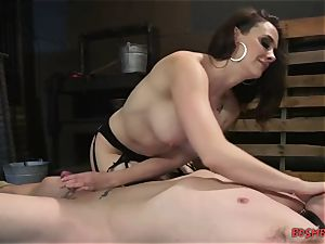 naughty dominatrix with humungous tits luvs restrain bondage