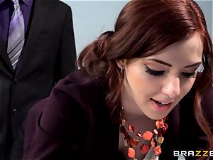 crimson hot assistant Ember Stone penalized by her boss