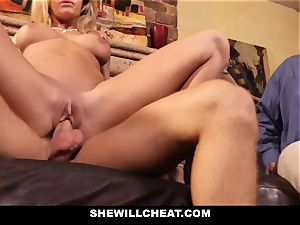 cheating hubby observes Wifes beaver Get ruined