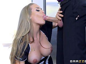 porking steamy super-hot maid Nicole Aniston