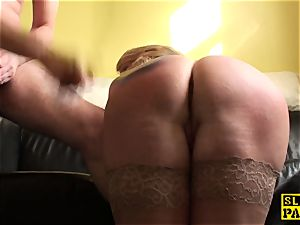 Mature domination & submission british paddled and porked