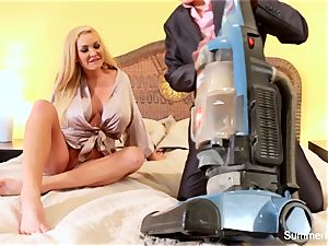 blondie housewife Summer drills gorgeous salesman Lily