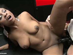 rough Kathia Nobili shoves her cable on bone deep down her accomplice throat