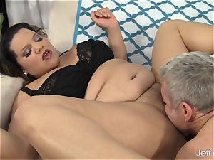 female Spice takes big milky man meat