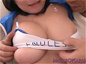 big-titted japanese milf in uniform pussyfucked