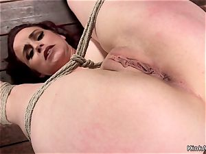 thick milk cans cougar ginger-haired puss played hog-tie