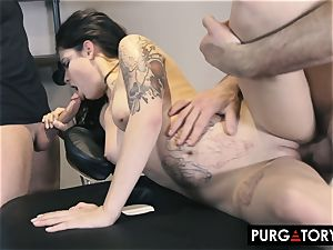 PURGATORY I let my wife pummel 2 men in front of me