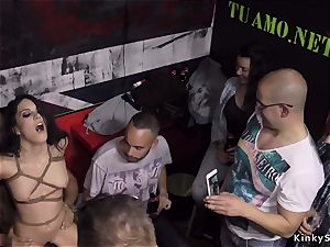 euro babe flogged and pounded in public