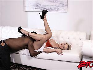 sweetie Nina Elle nursing big black cock with cootchie and fellatio