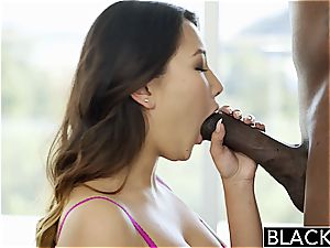 BLACKED tight chinese Jade Luv moans on ginormous black cock