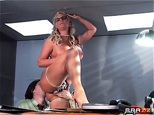 Phoenix Marie getting busted with jism by Danny D