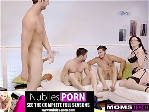 cuckold mummy boinks sonnie And pals When Hubbys Away