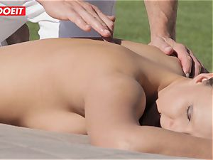 crazy Housewife Gets boned by Her massage Therapist