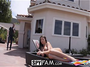 SpyFam Step sis Lily Adams screwed by step brother