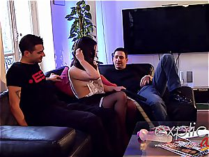three way ass-fuck and double penetration for French honey