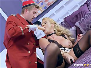 Real insatiable milf Phoenix Marie gets deep service in hotel room