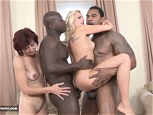 Matures in xxx interracial group bang-out facial spunk