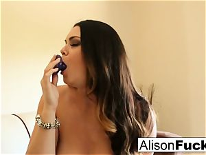 phat titted beauty Alison Tyler plays with her twat