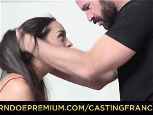casting FRANCAIS - unexperienced bombshell pulverized and jizm coated
