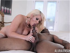 interracial muff tucked Alura Jenson with yam-sized dark-hued trunk