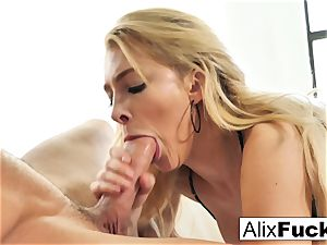 Alix Lynx spits all over a steaming pulsating manmeat