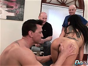 stunning wife Takes It Up the bum While spouse Looks On