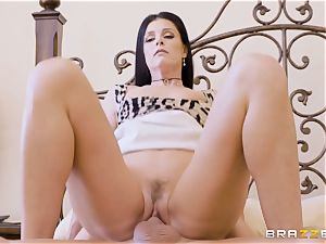 cougar India Summers messes with her draped daughters bf