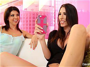 cute Tara plumbs her huge-titted stepsister Dava