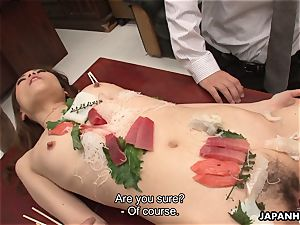 japanese stunner is penetrated like a salad